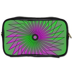 Pattern Travel Toiletry Bag (one Side) by Siebenhuehner