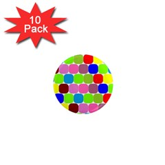 Color 1  Mini Button Magnet (10 Pack) by Siebenhuehner