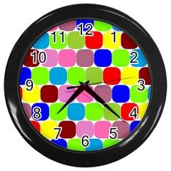 Color Wall Clock (black) by Siebenhuehner