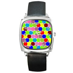 Color Square Leather Watch by Siebenhuehner