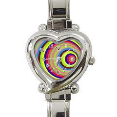 Color Heart Italian Charm Watch  by Siebenhuehner