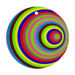 Color Round Ornament (two Sides) by Siebenhuehner