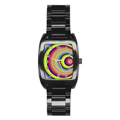 Color Stainless Steel Barrel Watch by Siebenhuehner