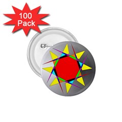 Star 1 75  Button (100 Pack) by Siebenhuehner