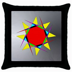 Star Black Throw Pillow Case by Siebenhuehner