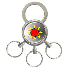 Star 3 Ring Key Chain by Siebenhuehner