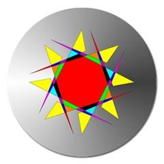Star Magnet 5  (round) by Siebenhuehner