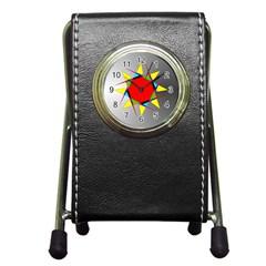 Star Stationery Holder Clock by Siebenhuehner