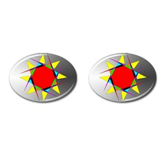 Star Cufflinks (oval) by Siebenhuehner