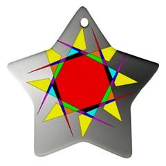 Star Star Ornament (two Sides) by Siebenhuehner
