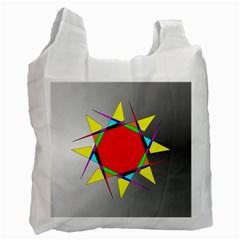 Star White Reusable Bag (two Sides) by Siebenhuehner