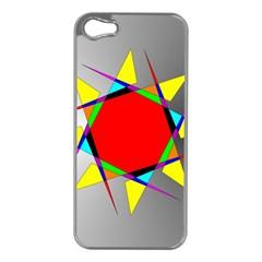 Star Apple Iphone 5 Case (silver) by Siebenhuehner