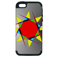 Star Apple Iphone 5 Hardshell Case (pc+silicone) by Siebenhuehner