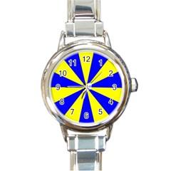 Pattern Round Italian Charm Watch by Siebenhuehner