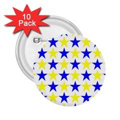 Star 2 25  Button (10 Pack) by Siebenhuehner