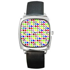 Pattern Square Leather Watch by Siebenhuehner