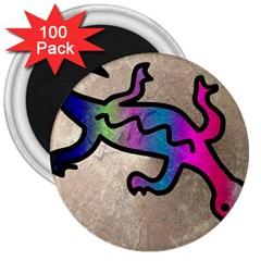 Lizard 3  Button Magnet (100 Pack) by Siebenhuehner