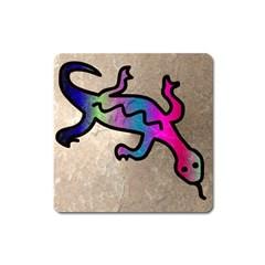 Lizard Magnet (square) by Siebenhuehner