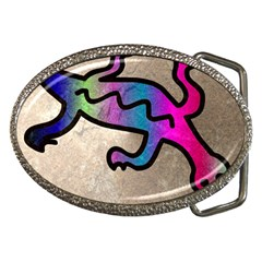 Lizard Belt Buckle (oval) by Siebenhuehner