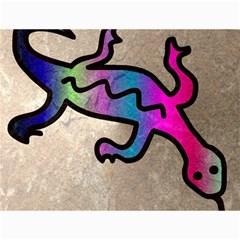Lizard Canvas 18  X 24  (unframed) by Siebenhuehner