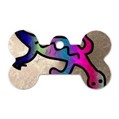 Lizard Dog Tag Bone (one Sided) by Siebenhuehner