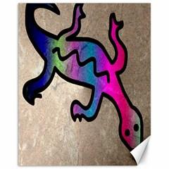Lizard Canvas 11  X 14  (unframed) by Siebenhuehner