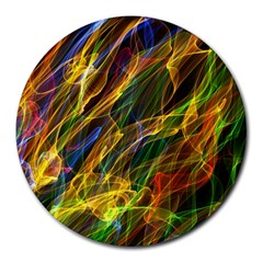 Abstract Smoke 8  Mouse Pad (round) by StuffOrSomething