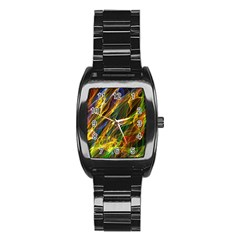 Abstract Smoke Stainless Steel Barrel Watch by StuffOrSomething