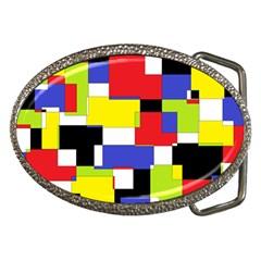 Mod Geometric Belt Buckle (oval)