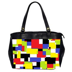 Mod Geometric Oversize Office Handbag (two Sides) by StuffOrSomething