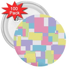 Mod Pastel Geometric 3  Button (100 Pack) by StuffOrSomething