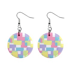 Mod Pastel Geometric Mini Button Earrings by StuffOrSomething