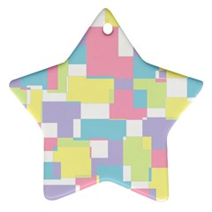 Mod Pastel Geometric Star Ornament (two Sides) by StuffOrSomething