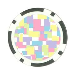 Mod Pastel Geometric Poker Chip (10 Pack) by StuffOrSomething