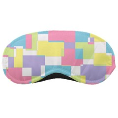 Mod Pastel Geometric Sleeping Mask by StuffOrSomething
