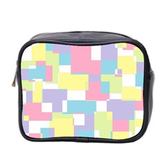 Mod Pastel Geometric Mini Travel Toiletry Bag (two Sides) by StuffOrSomething
