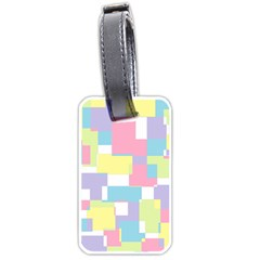 Mod Pastel Geometric Luggage Tag (two Sides) by StuffOrSomething