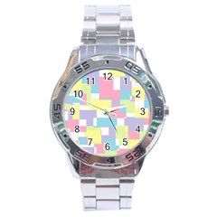 Mod Pastel Geometric Stainless Steel Watch by StuffOrSomething