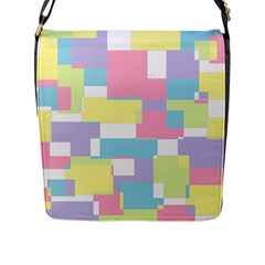 Mod Pastel Geometric Flap Closure Messenger Bag (large) by StuffOrSomething