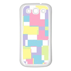 Mod Pastel Geometric Samsung Galaxy S3 Back Case (white) by StuffOrSomething