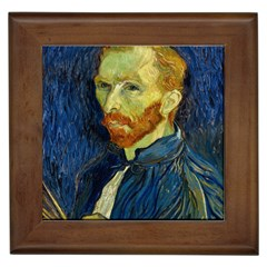 Vincent Van Gogh Self Portrait With Palette Framed Ceramic Tile by MasterpiecesOfArt