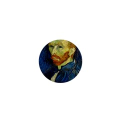 Vincent Van Gogh Self Portrait With Palette 1  Mini Button by MasterpiecesOfArt