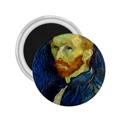 Vincent Van Gogh Self Portrait With Palette 2 25  Button Magnet by MasterpiecesOfArt