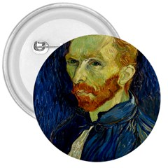 Vincent Van Gogh Self Portrait With Palette 3  Button by MasterpiecesOfArt