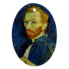 Vincent Van Gogh Self Portrait With Palette Oval Ornament by MasterpiecesOfArt
