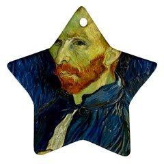 Vincent Van Gogh Self Portrait With Palette Star Ornament by MasterpiecesOfArt