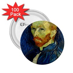 Vincent Van Gogh Self Portrait With Palette 2 25  Button (100 Pack) by MasterpiecesOfArt