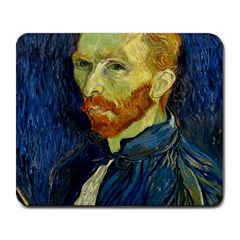 Vincent Van Gogh Self Portrait With Palette Large Mouse Pad (rectangle) by MasterpiecesOfArt