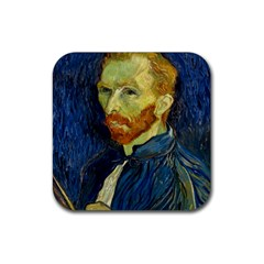 Vincent Van Gogh Self Portrait With Palette Drink Coasters 4 Pack (square) by MasterpiecesOfArt