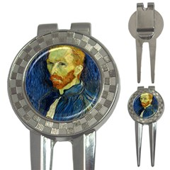 Vincent Van Gogh Self Portrait With Palette Golf Pitchfork & Ball Marker by MasterpiecesOfArt